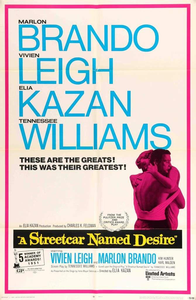 A Streetcar Named Desire (1951) Original One Sheet Movie Poster