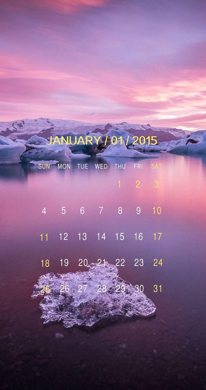 9 Beautiful iPhone Calendar Wallpapers for JANUARY! January 2015 Calendar - mobile9