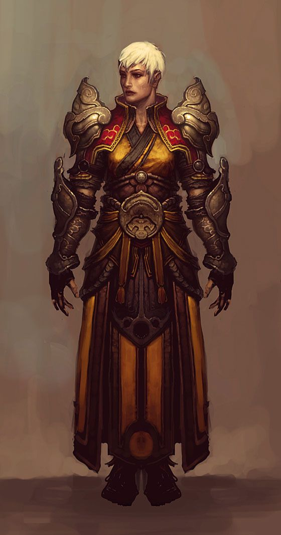 diablo 3 concept sketch woman armour  #Monk