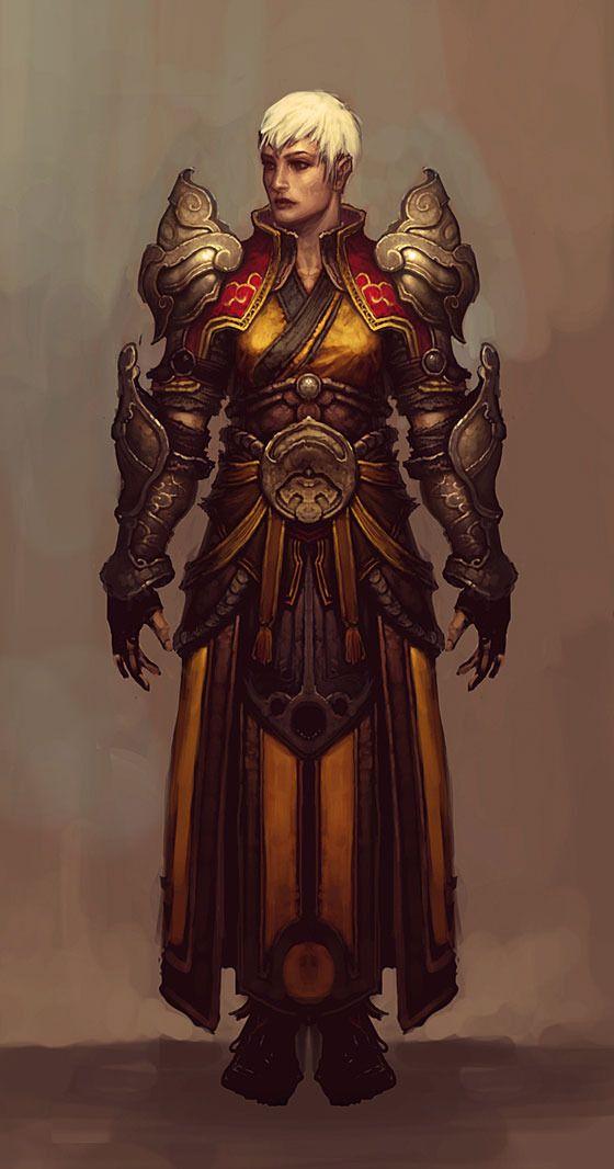 diablo 3 concept sketch woman armour