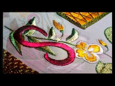 ВЫШИВКА ШЕЛКОМ и ЗОЛОТОМ:ОРНАМЕНТ БАРОККО / EMBROIDERY:BAROQUE ORNAMENT - YouTube