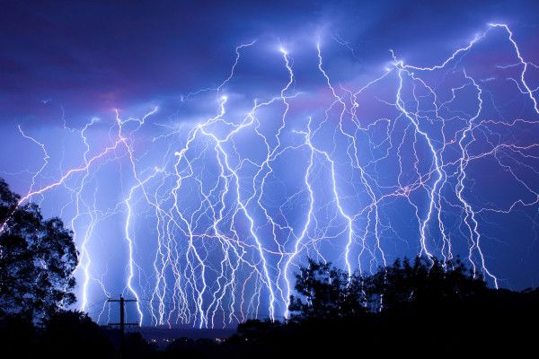 Weather art! Spectacular combo of 20 photos taken over 20 mins. Lake Macquarie, NSW  Submitted by: Peter Kennelly #lightning  30/11/2012