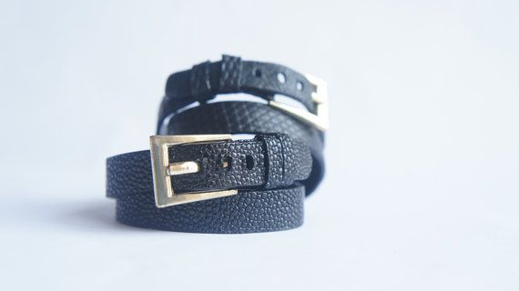 Genuine Leather Bracelet / Stingray Leather Double by KRAMAGOODS