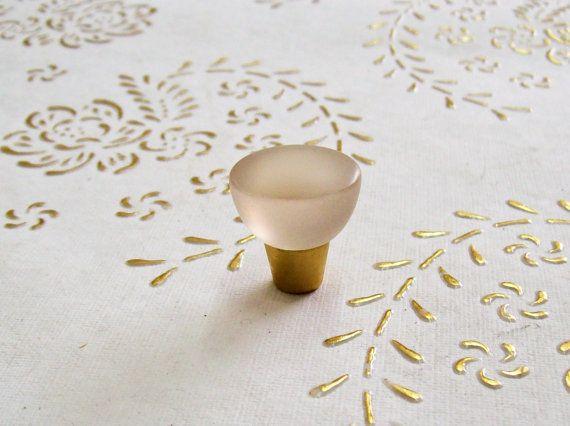 Manopole di Italia cristallo satinato bianco in alta qualità.