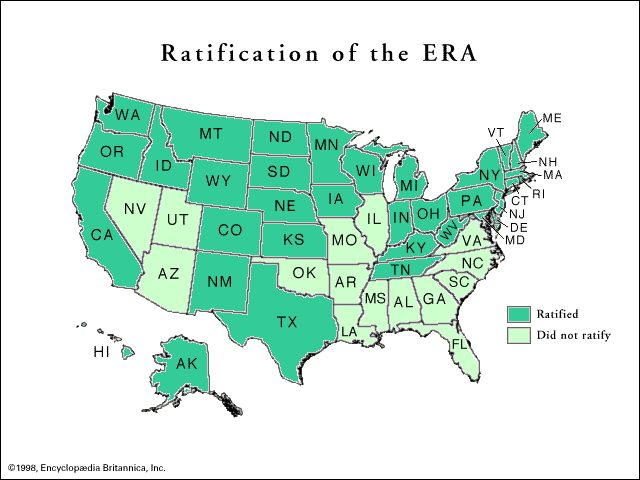 See which states ratified the Equal Rights Amendment (Hey AR Call your congress person - senator and ask them to support the ERA in 2013!)