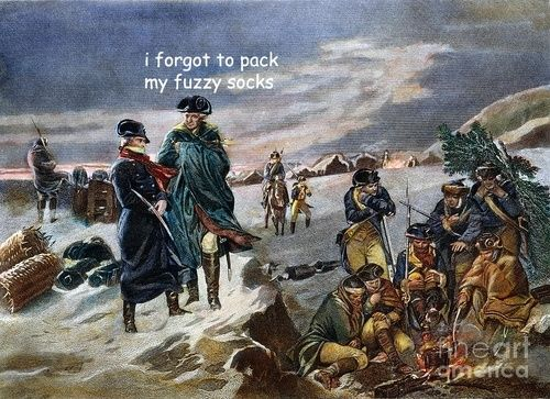 The captioned adventures of George Washington...Poor George are we picking on you?? Mais non, me thinks you have/had a great sense of humor