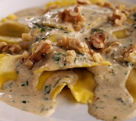 Uses frozen butternut squash ravioli! Keep eye out for it - I've never seen in stores I shop!