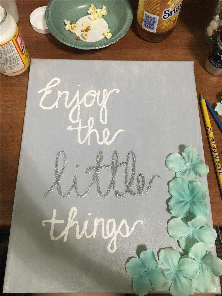 Phi Sigma Sigma big little sorority craft / Enjoy the little things craft