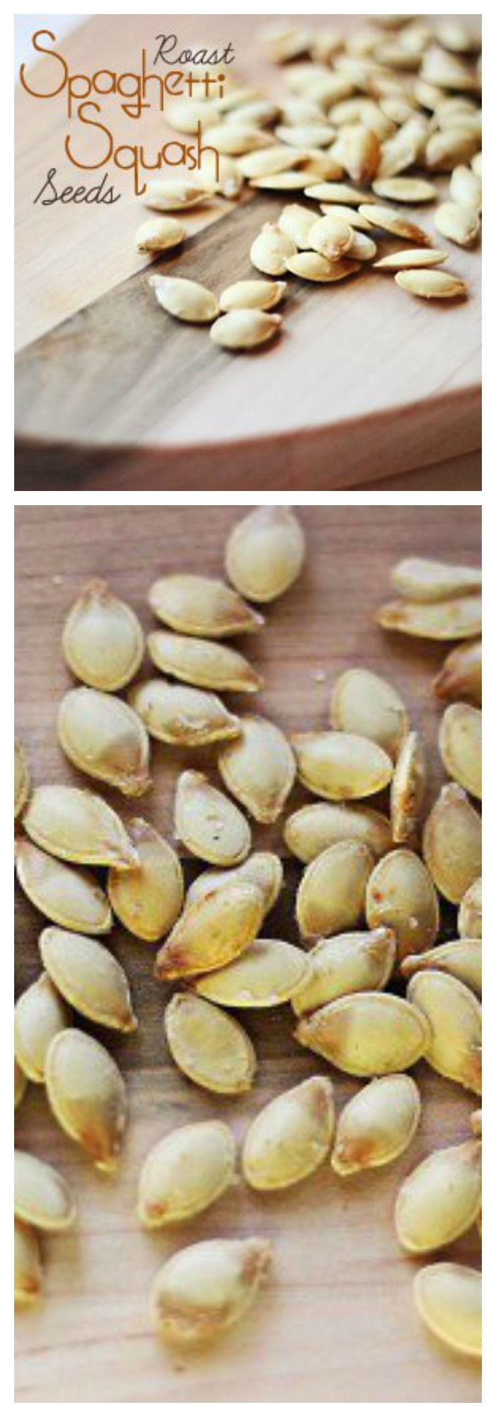 We all love roasted pumpkin seeds, but did you know roast spaghetti squash seeds taste just as good? Don't let them go to waste! They make a great paleo or clean eating snacks.