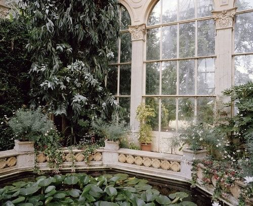 Victorian Conservatory with Classic Architecture and Flora