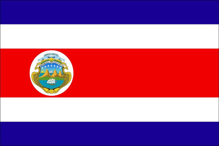 This is the flag of Costa Rica or what it is actually called, Costarricenses.