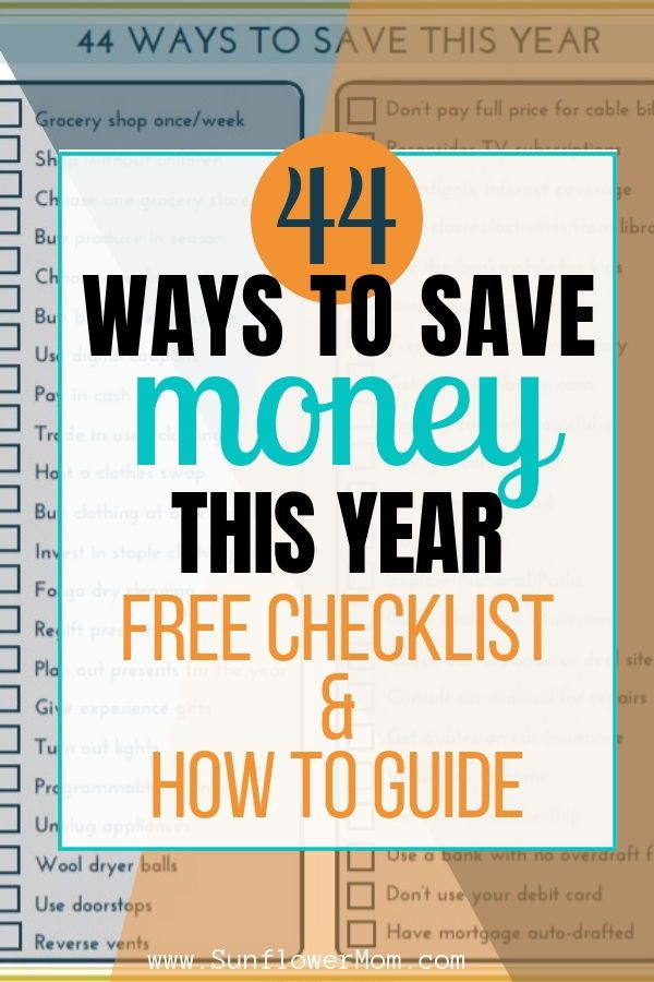 44 Things You Can Do Immediately To Save Money With Checklist
