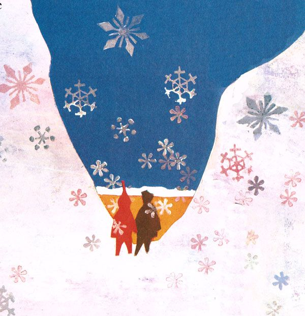 from the snowy day  by ezra jack keats