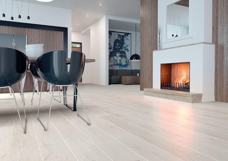 Szinkron nyomott felületű világos laminált padló