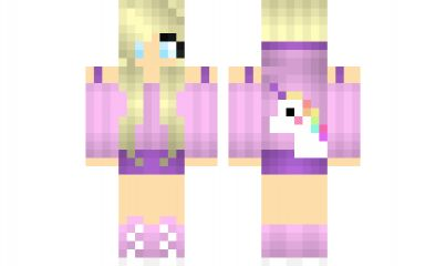 minecraft skin Cute-Unicorn-Girl-2 Find it with our new Android Minecraft Skins App: https://play.google.com/store/apps/details?id=studio.kactus.girlskins