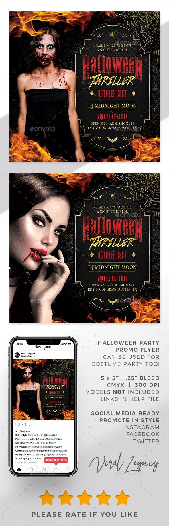Halloween Party Flyer Template AD Party, AFFILIATE,