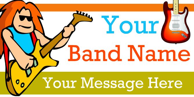 Design your own band banners or choose from thousands of band banner design only on bannerbuzz, so hurry to to make your own or print your banner for music event on bannerbuzz