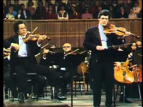 "Mozart, ""Sinfonia Concertante"" K.364  played by Itzhak Perlman and Pinchas Zukerman, directed by Zubin Mehta"
