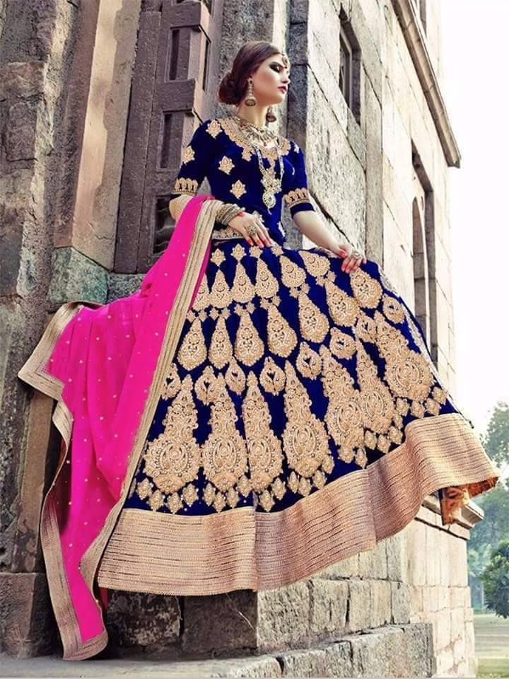 #BridalLehengaOnline #DesignerLehengaSale #StylishLehengaOnline #PartyWearLehengaSale Maharani Designer Boutique  To buy it click on this link :  http://maharanidesigner.com/?product=Buy-Lehenga-Online Fabric - velvet or silk Handwork  Rs. 28000 For any more information contact on WhatsApp or call 8699101094 Website www.maharanidesigner.com