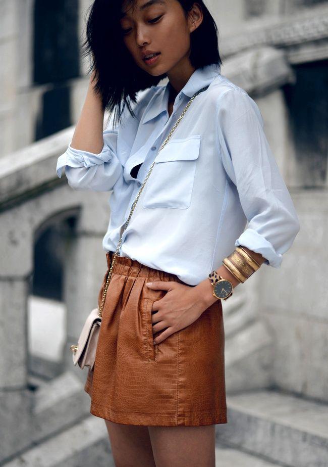 Chemise en jean, Frange, Cuir... - Tendances de Mode