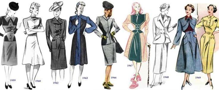 Платье сороковых годов