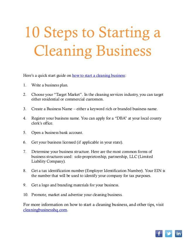 How To Start A Cleaning Business House Services Janitorial