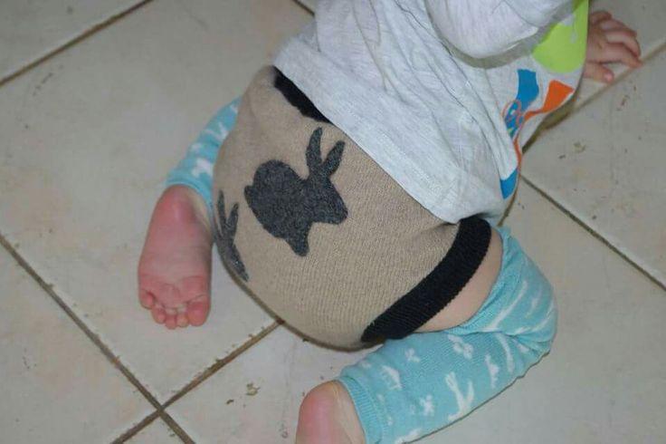 Wool diaper cover , bunnies otulacz gatki wełniane