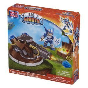 Skylanders Giants Mega Bloks Sky Turret Defense with Chill (95408) by Mega Brand. $12.95. 74 Pieces. Mega Bloks Skylanders Sky Turret Defense. Build up the barrier against Kaos's minions with the Mega Bloks Skylanders Giants Sky Turret Defense (95408)! The buildable cannon with working launcher is commanded by the water Skylander Chill to destroy enemy targets from afar. When combat gets up-close and personal, her icy spear and shield make quick work of vanquishing foes.T...