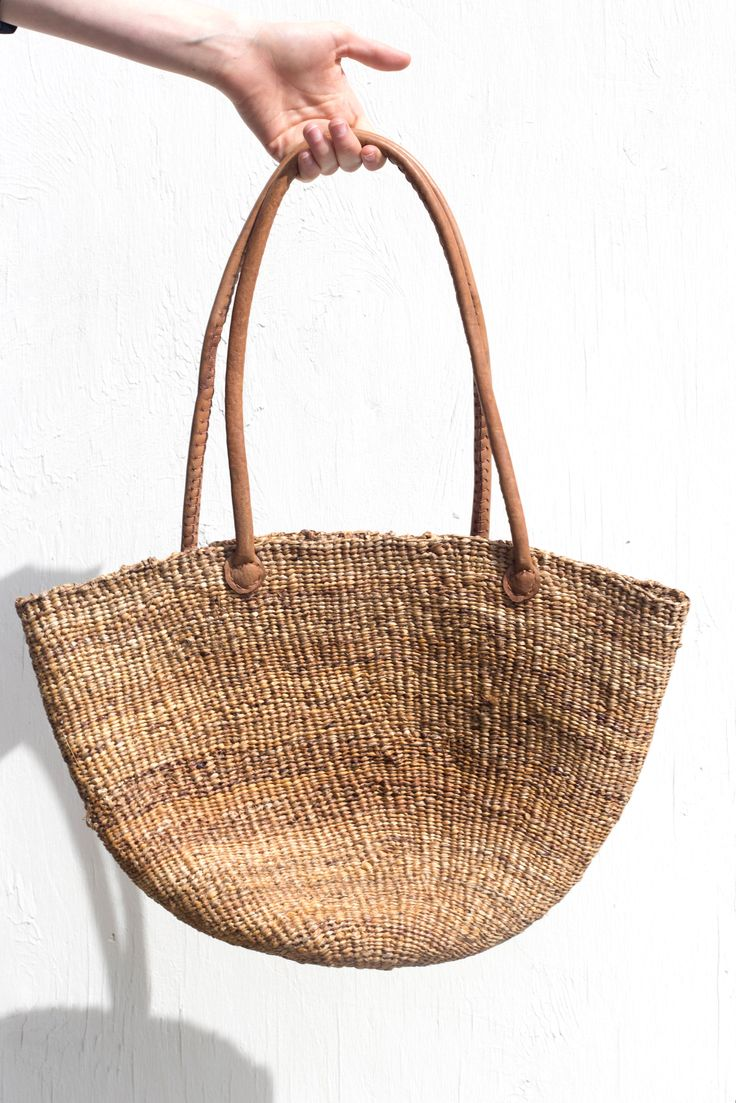 I've always loved straw totes like this for summer.