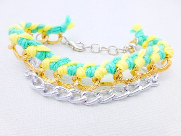 Woven Summer Chain Bracelet available at Whimsy & Grace NZ