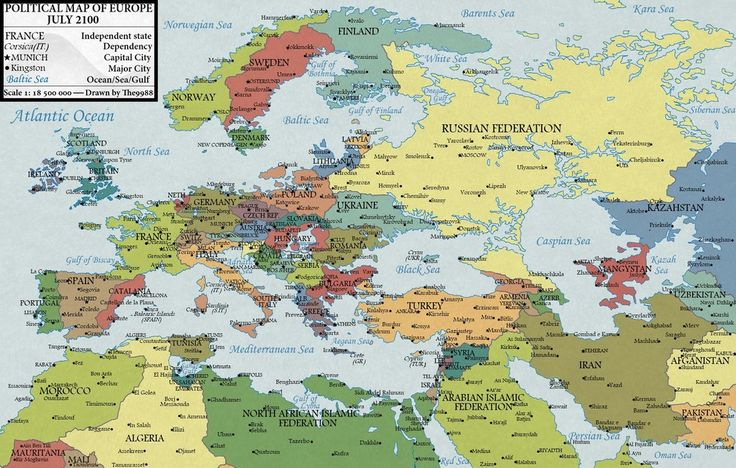After the sea levels rise: Europe in 2100 (Version 1.1) by JaySimons.deviantart.com on @deviantART