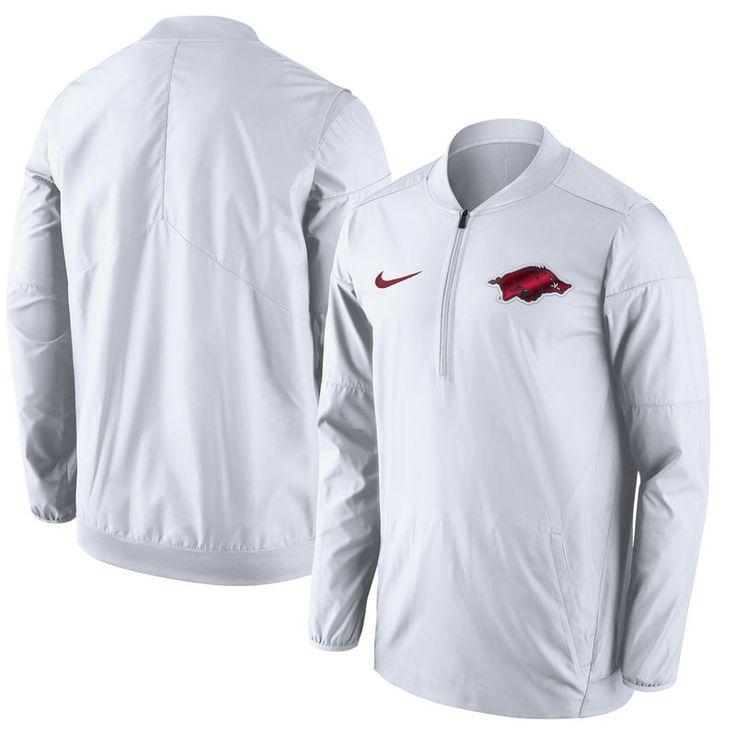 Arkansas Razorbacks Nike Lockdown Half-Zip Jacket - White