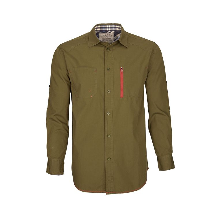 Cotton shirt with contrasting details for a casual urban look in everyday wear.