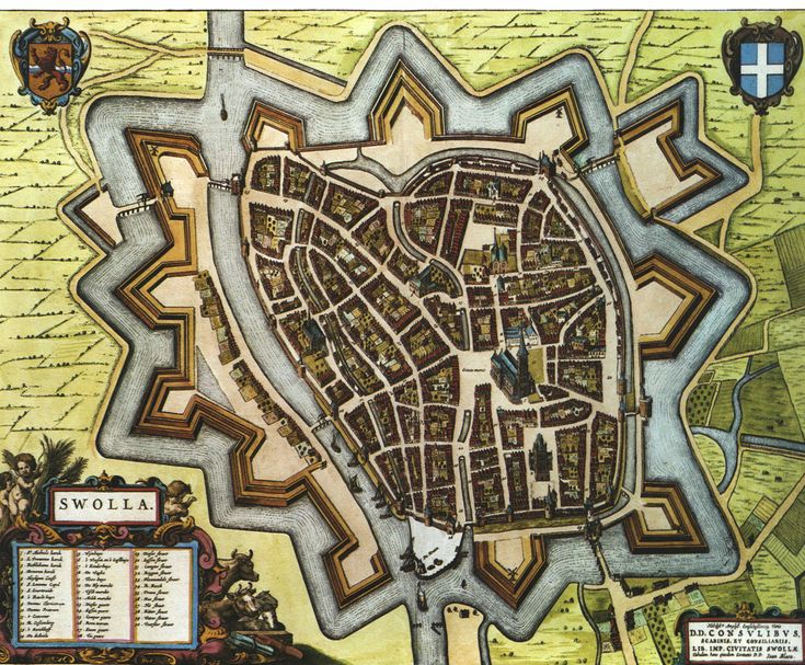 Old map showing Zwolle a loooong time ago