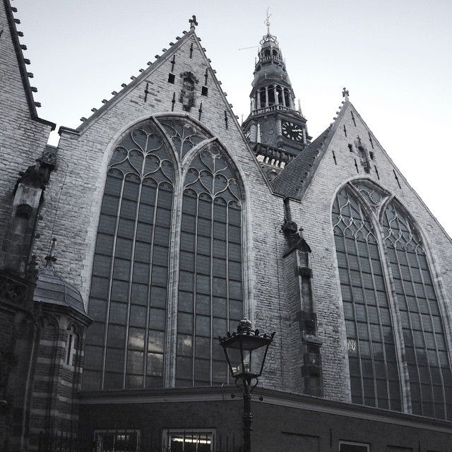 The Old Church dominates over the #RedLightDistrict of #Amsterdam