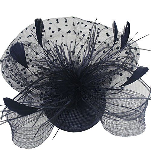 Kiss Rain Womens Bow Mesh Clip Fascinators for Wedding Performance and Party Black *** You can get more details by clicking on the image.