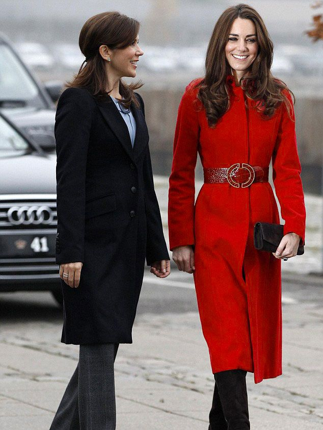 British Star Style Slim Long Pattern Bride Wool Trench