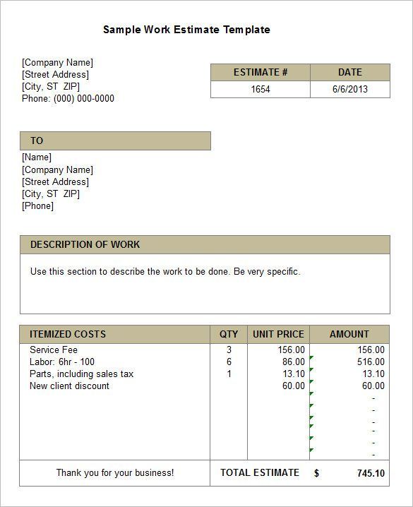 Best 25+ Estimate template ideas on Pinterest Invoice template - contractor quotation sample