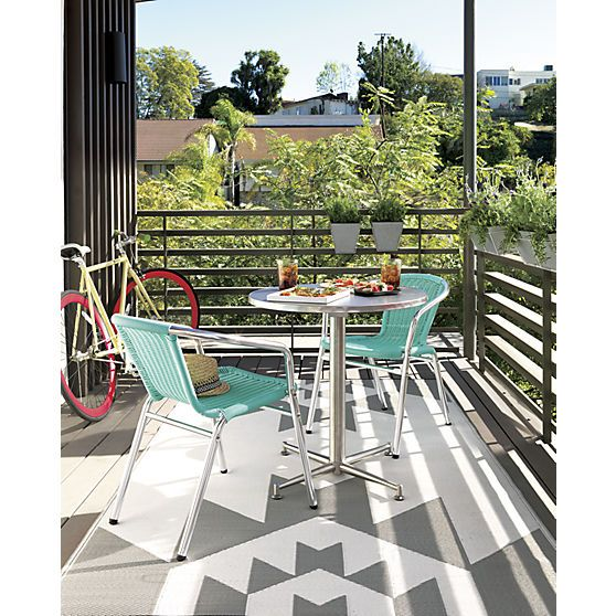 90 Degrees Bistro Table In Outdoor Furniture | CB2