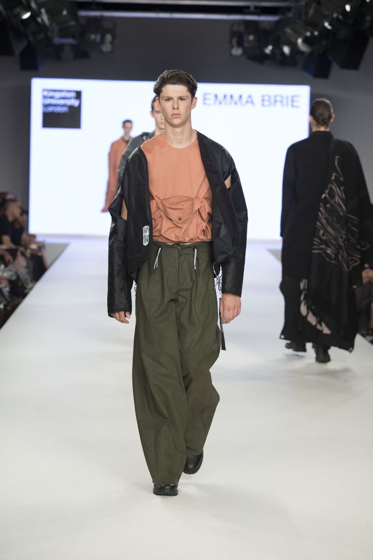 Kingston University student Emma Brie's collection on the catwalk at Graduate Fashion Week 2016. Find out more about studying fashion at Kingston University : http://www.kingston.ac.uk/undergraduate-course/fashion/?utm_source=Pinterest&utm_medium=Social&utm_campaign=KUPinterest&utm_content=FashioncourseGFW2016