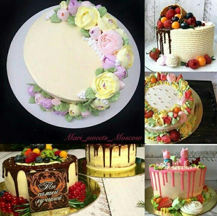 Кремовый декор тортиков