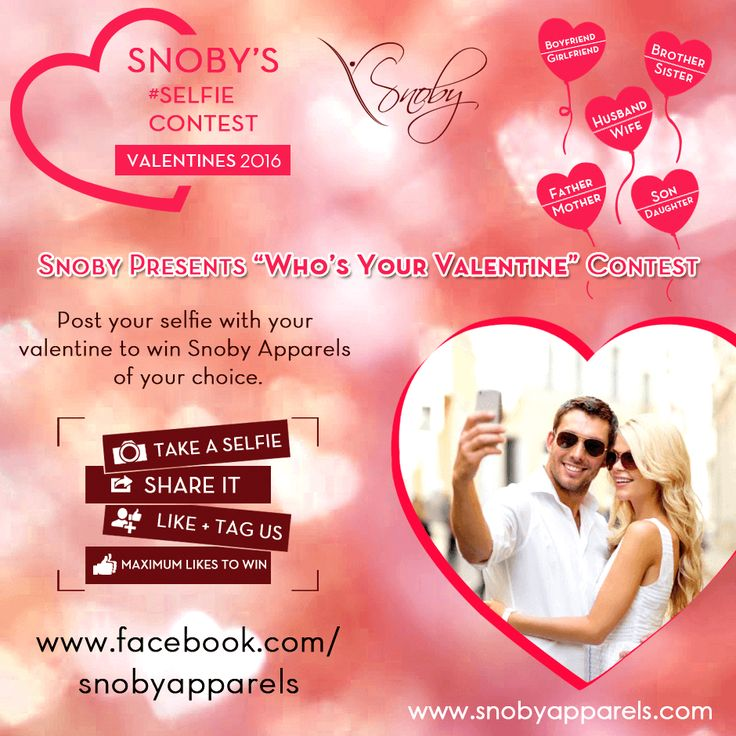 Get ready for #Valentine's Day contest! Share your valentine's selfie and stand a chance to win #SnobyApparels of your choice! Read participation rules: http://ow.ly/Y3FYQ