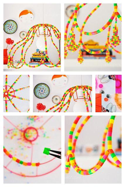 Lampara con hama beads