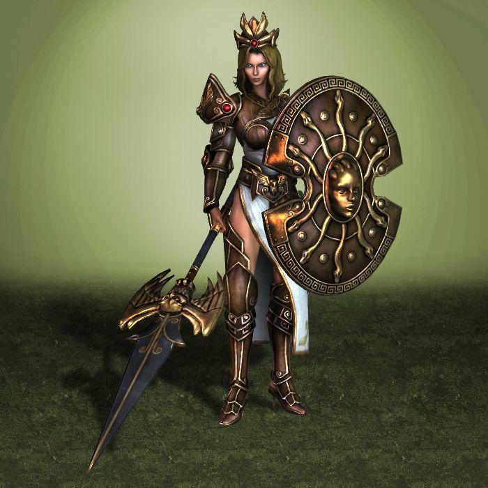 DeviantArt: More Like Smite - Athena - Golden Skin by jaggudada