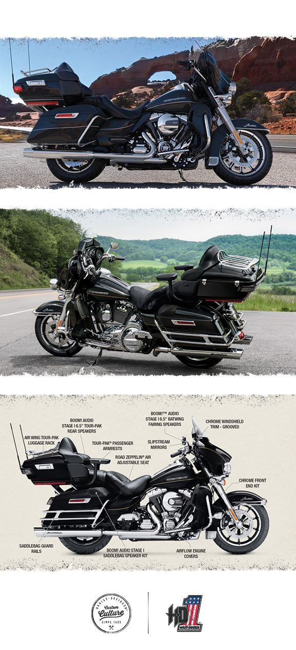 Whether you're tearing up the interstate or carving corners on a winding scenic route, you'll be ready to eat up the miles in comfort. | 2016 Harley-Davidson Ultra Limited