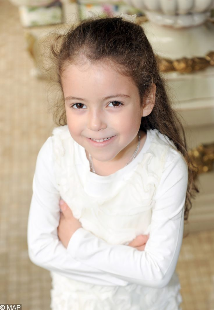 Her Royal Highness Princess Lalla Khadija of Morocco.  Lalla Khadija, born 28 February 2007, is the second child of Mohammed VI of Morocco and his wife, Princess Lalla Salma.
