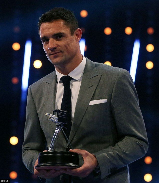 New Zealand rugby legend Dan Carter was named Overseas Sports Personality of the Year 2015