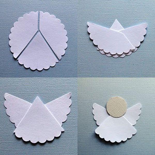 Weihnachtskarte Engel basteln