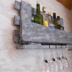 Les 25 meilleures id es concernant casiers bouteilles palette sur pinterest vin palette et - Porte bouteille palette ...