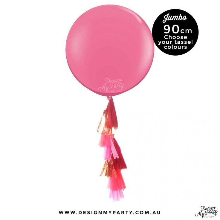 jumbo balloon with tassel
